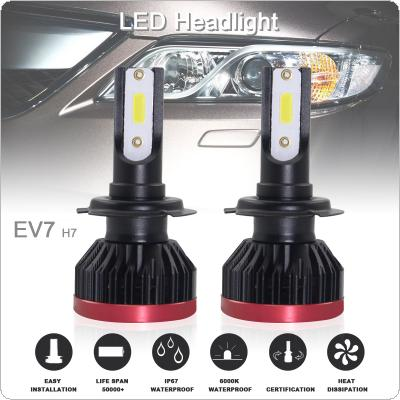 2pcs Super Mini H7 120W 20000LM 6500K COB LED Chips Headlight Bulbs Conversion Kit Lamps