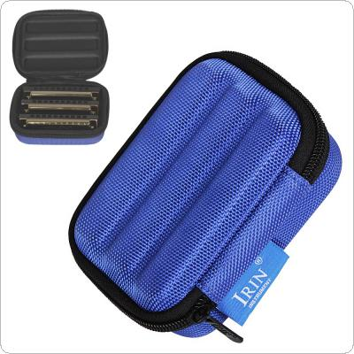 Protable Harmonica Storage Box Oxford Cloth Sponge Lightweight Shockproof Case for 10 Hole Harmonica
