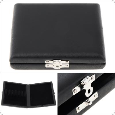Black Leather Oboe Bassoon Reed Storage Case Box with Vent Holes for 3 Reeds