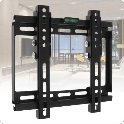 Universal 20KG Adjustable TV Wall Mount Bracket Flat Panel TV Frame Support 10 Degrees Tilt with Level for 12 - 37 Inch LCD LED Monitor Flat Pan