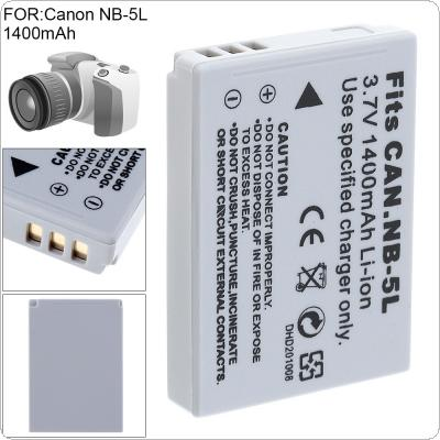 NB-5L 3.7V 1400 mAh Li-ion Rechargeable Camera Battery for Canon SX200is SX210IS SX220HS SX230HS CB-2LXE PowerShot S100 S110 SD950 SD970 SD990