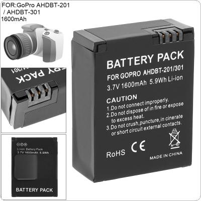 3.7V 1600mAh 5.9Wh Li-ion Rechargeable Camera Battery for AHDBT-201 / AHDBT-301