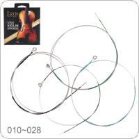 4pcs/set Violin String E-A-D-G Steel Wire with Full Bright Tone for 1/8 - 4/4 All Size Violin