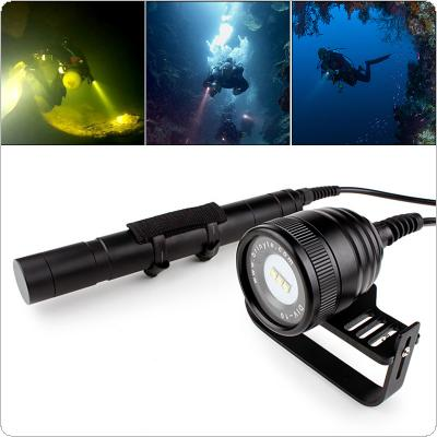 Brinyte DIV10 Waterproof IP68 3000 Lumens 3x CREE XM_L2 (U4) LED Underwater 200m with 5 Modes Diving Flashlight Suite Support Professional Diving