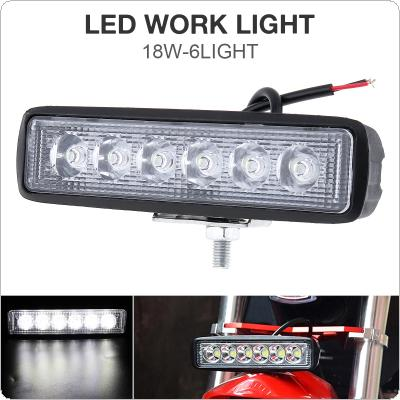 18W 1000LM Bright Light Spot 6LED Work Bar Driving Fog Offroad Car Lamp for Truck / Motorcycle / Car / Boat