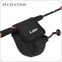14 x 15 x 5.5cm Spinning Fishing Reel Bag Fishing Wheel Protective Soft Case Cover