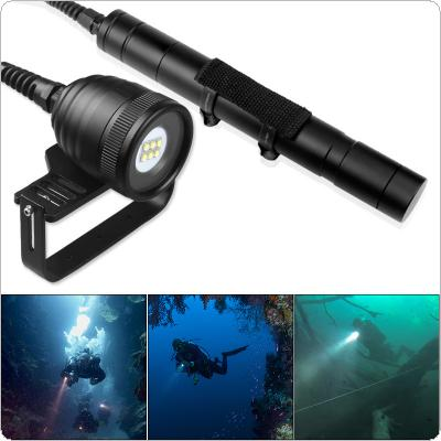 DIV10W Waterproof 4500 Lumens 6x CREE XM-L2 (U2) LED Underwater 200m with 5 Modes Diving Flashlight Support Professional Diving / Photographic Supplement