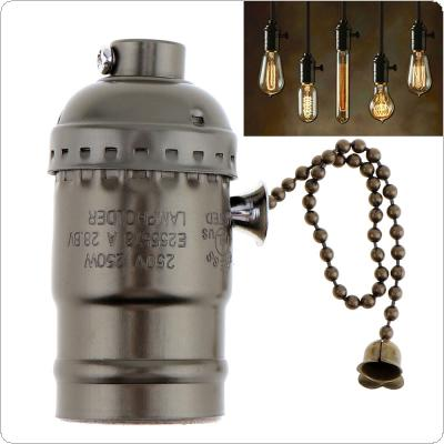 E27 110-250V Vintage Retro Lamp Bases Holder Light Bulb with Screw Pendant for E27 Screw Bulbs