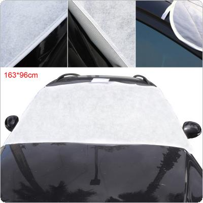 Universal Thick Front Windshield Peva Cotton Ice / Snow / Frost Protector Car Clothing Cover with Two Bandage + Five Magnets