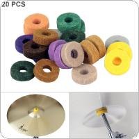 20pcs/lot Colorful Cymbal Felt Pads Percussion Accessories Kit Protection Pad for Drum Slices Felt