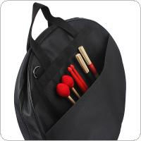 Three Pockets Cymbal DrumSticks Storage Bag Portable Gig Shoulder Bag for 8-20 Inch Cymbal and Drum Sticks