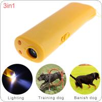Ultrasonic LED Dog Repeller Trainer Pet Dog Rumbling Equipment Flashlight with 3 Modes for Training Dog / Drive Dog / Lighting