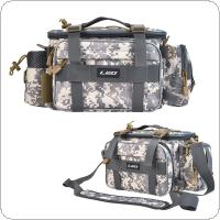 40 x 17 x 20cm Camouflage Carp Fishing Bag Multifunctional Waterproof Outdoor Waist Shoulder Bag Case Reel Lure Camera Storage Bag