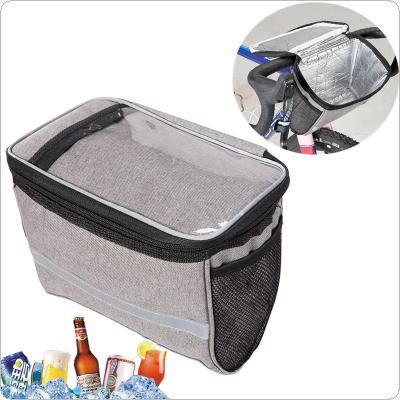 Bicycle Front Bag Cycling Basket Pannier Frame Tube Handlebar Bag Lining Aluminum Foil for Cold-Hot Drinks Heat Preservation and Cold Insulation
