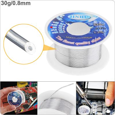 63/37 30g 0.8mm High Purity Rosin Core Solder Wire with 1.2% Flux and Low Melting Point for Electric Soldering Iron