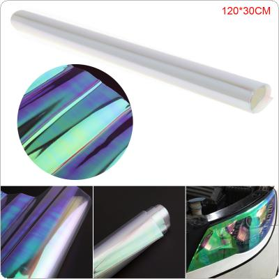 120 x 30 CM PVC Transparent Colourful Automobile Headlamp Taillight Fog Lamp Color Changing Film Sticker for Car / Motorcycle / Electronic Product / Home