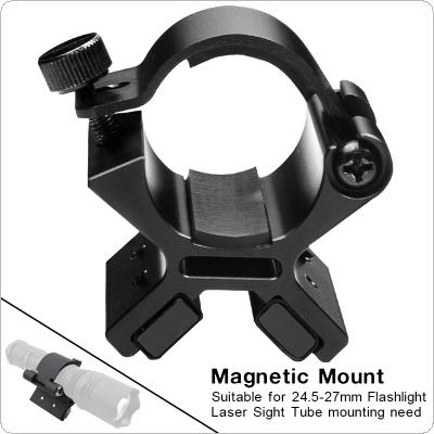 Brinyte MX01 Flashlight Magnetic Mounting Bracket with Dual Magnets for 24-27mm Flashlight Dim Range Assembly Tactical Flashlight