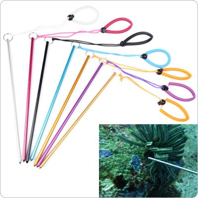 Colorful Aluminium Alloy Dive Lobster Stick Rod Diving Crowbar with Hand Rope Lanyard Underwater Shaker Noise Maker for Exploring Underwater Life