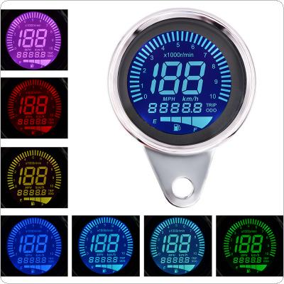 12V Waterproof General Multifunctional Instrument Tachometer / Odometer / Oil gauge / Speedometer Combination with LED Blacklight for Motorcycles