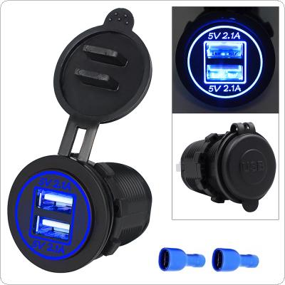 Dual USB Motorcycle / Car Cigarette Lighter Cigarette Lighter Charger Socket Charger+LED Digital Voltmeter Meter