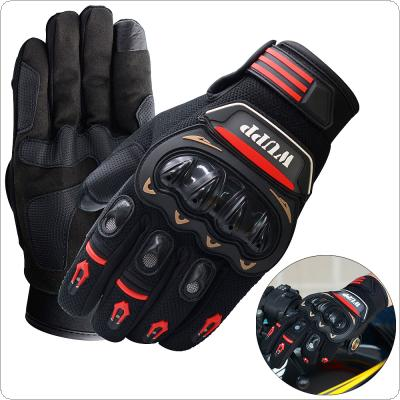 Touch Screen Waterproof Breathable Wearable Protective Gloves Wear and Tear Anti Skid Resistance Full-Finger Motorcycle Glove