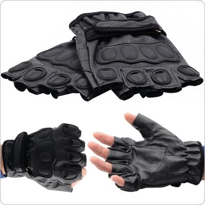 Nylon Stand Wear and Tear Anti Skid Resistance Half Finger SKin Motorcycle Glove