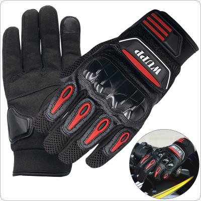 Touch Screen Skid Resistance Breathable Wearable Protective Gloves Wear and Tear Anti Skid Resistance Full-Finger Motorcycle Glove