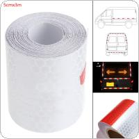 5 x 300 CM Red / White Universal  Any Clipping  Stripes Lattice Warning Reflective Tape Car Body Sticker for Cars / Trucks / Motorcycles / Bicycles