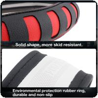 M 38CM Universal Leather  Fashion Hollowed Out Splicing Breathable Anti-Slip Car-styling Steering Wheel Cover