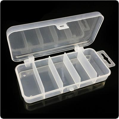 13.3 x 6.2 x 2.5cm 5 Compartments Multifunctional Fish Tackle Box for Fishing Lures Hooks Other Tools Jewelries Storage
