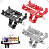 Bicycle Motorcycle Electrombile Phone Holder Mount Bracket Handlebar Anti-Slip Clip Stand Support 3.5-6.2inch Phone