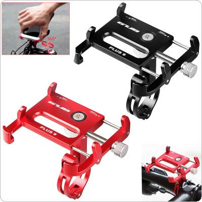 Bicycle Motorcycle Electrombile Phone Holder 360 Degree Rotatable 6 Claw Bike Phone Bracket Support 3.5-6.2 Inch Phone