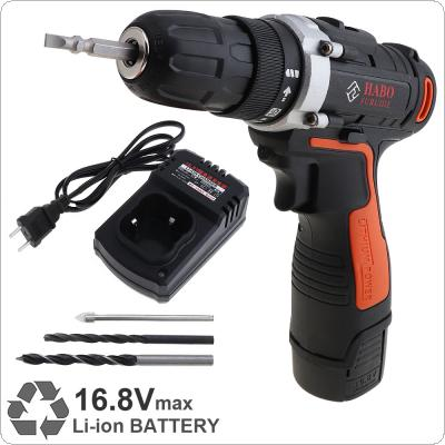 AC 110 - 240V Cordless 16.8V Electric Drill / Screwdriver with 15 Gear Torque and Two-speed Adjustment Button for Handling Screws / Punching