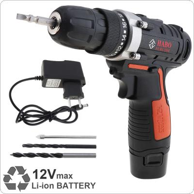 AC 100 - 240V Cordless 12V Electric Drill / Screwdriver with Li-ion Battery and Two-speed Adjustment Button for Handling Screws / Punching