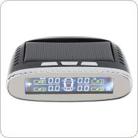 Smart Waterproof TPMS Tyre Pressure Monitoring System Solar Power Charging Digital LCD Display Auto Security Alarm Systems