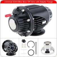 Universal Black  4 IV Bov Turbo Pull Type Blow Off Valve Bov Exhaust Valve BOV with Adapter Flange