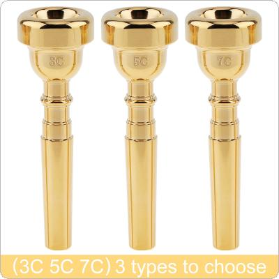 3C 5C 7C Gold Plated Copper Alloy Professional Trumpet Mouthpiece with Rich Tone