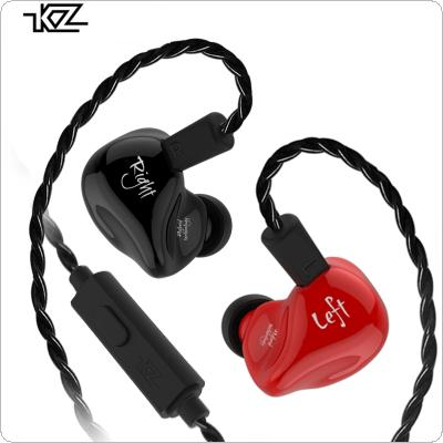KZ ZS4 In Ear 3.5mm Detachable Circle Iron 1DD+1BA Hybrid Technology HIFI Stereo Noise Cancelling Earphone with High Definition Condenser MIC