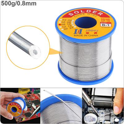60/40 B-1 500g 0.8mm No-clean Rosin Core Solder Wire with 2.0% Flux and Low Melting Point for Electric Soldering Iron