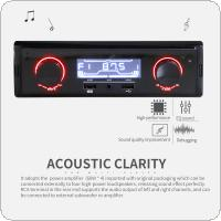 12V Bluetooth LCD Display Car Radio MP3 Player Vehicle Stereo Audio In-Dash Aux Input Receiver Support TF / FM / USB / SD with Remote Control
