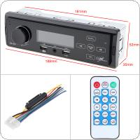 12V Bluetooth Touch Screen Car Radio MP3 Player Vehicle Stereo Audio In-Dash Aux Input Receiver Support TF / FM / USB / SD with Remote Control