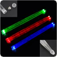 5A Acrylic Drum Stick Noctilucent Glow in The Dark Stage Performance Luminous Jazz Drumsticks Red Green Blue 3 Colors Optional