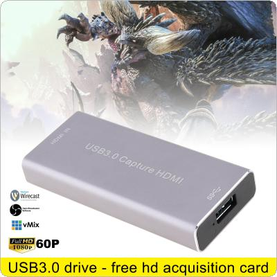 HDMI 1080P 60FPS USB3.0 UVC HD Video Capture Card with High-speed USB3.0 Interface and Driveless Design Support HDMI and SDI 1080P 60HZ HD Video Capture Box