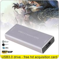 HDMI 1080P 60FPS USB3.0 UVC HD Video Capture Card with High-speed USB3.0 Interface and Driverless Design Support HDMI and SDI 1080P 60HZ HD Video Capture Box