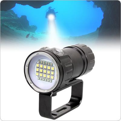 QH27 180W Fifteen 5050 White XML2  Six XPE Red R5 Six XPE Blue R5 LED Underwater 80m Scuba Diving Canister Light with 3 Modes Flashlight