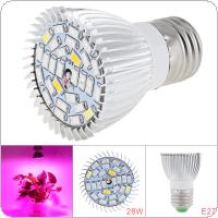 E27 85V-265V 28W 28 LEDs Plant Fill Grow Light Full Spectrum Band Red 15 Blue 7+ Warm 2 White 2+ Infrared 1 UV 1 for Grow Tent / Bonsai