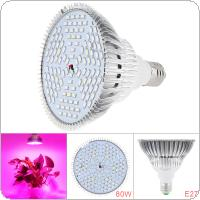 E27 85V-265V 80W 120 LEDs Plant Fill Grow Light Full Spectrum Band Red 78 + Blue 24 +  Warm 6 + Infrared 6 + UV 6 for Grow Tent / Bonsai