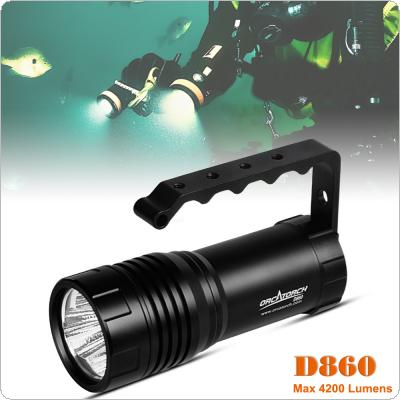 D860V Waterproof 4000 Lumens 3 x CREE XHP50 Diving Flashlight with Underwater 150m and Shock Resistant for Professional Diving