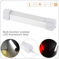 Multi-function Wireless LED Fluorescent Lamp Rechargeable with 5 Modes for Outdoor Camping