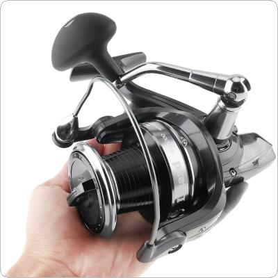9000 Series 13+1 Ball Bearings 5.1:1 Spinning Fishing Reel Metal Spool 25KG Max Drag Jigging Trolling Long Shot Left / Right Interchangeable